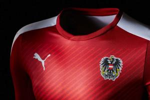 Autriche Euro 2016 maillot foot Puma domicile
