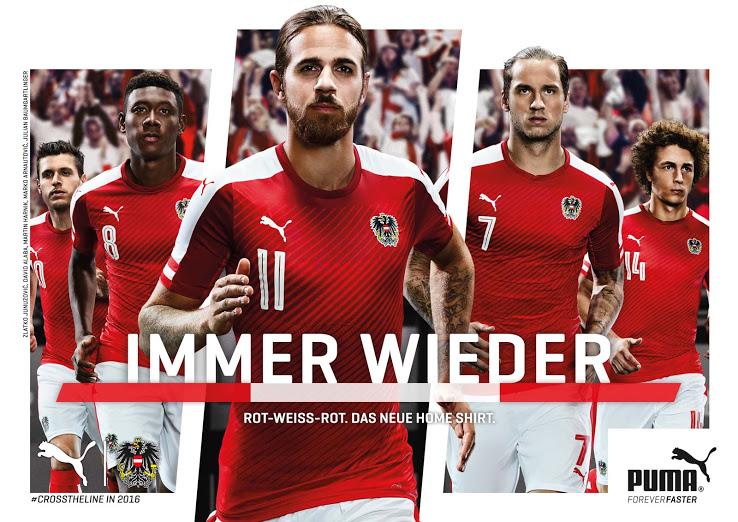 Autriche Euro 2016 les nouveaux maillots de football