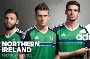 Irlande du Nord Euro 2016 maillot domicile Adidas