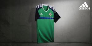 Irlande du Nord Euro 2016 maillot domicile Adidas officiel