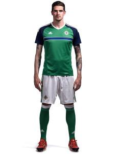 Irlande du Nord Euro 2016 tenue de foot domicile