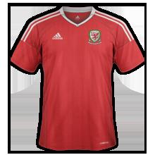 Pays De Galles Euro 2016 maillot domicile football