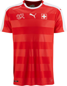 Suisse Euro 2016 maillot domicile foot