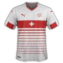 Suisse Euro 2016 maillot exterieur football