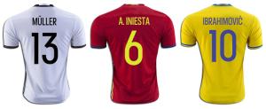 flocage Adidas Euro 2016 maillot