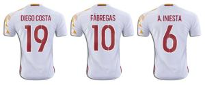 flocage Adidas Euro 2016 maillot exterieur