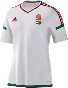 Hongrie Euro 2016 maillot exterieur officiel Adidas