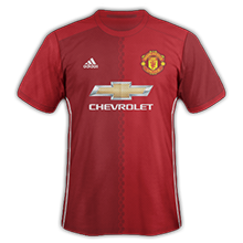 Manchester United 2017 maillot domicile foot 16-17
