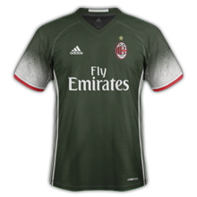 Milan AC 2017 maillot third football 16-17