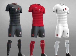 Albanie Euro 2016 maillots de football