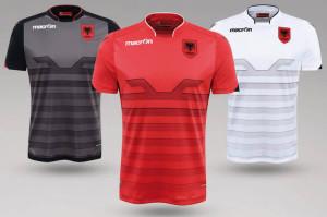 Albanie Euro 2016 maillots de football Macron