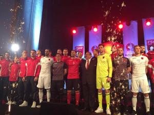 Albanie Euro 2016 maillots de football Macron presentation