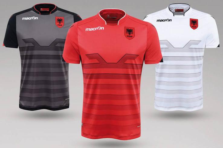 Albanie Euro 2016 les maillots de foot par Macron