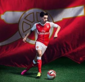 Arsenal 2017 maillot de foot domcile officiel Gunners