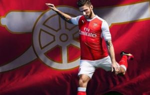 Arsenal 2017 maillot domicile Giroud 2016 2017 Puma