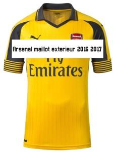 Arsenal 2017 maillot exterieur 2016 2017
