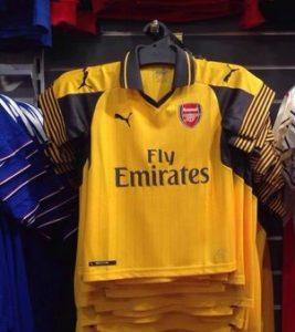 Arsenal 2017 maillot exterieur Puma 2016-2017