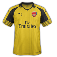 Arsenal 2017 maillot foot exterieur 16-17