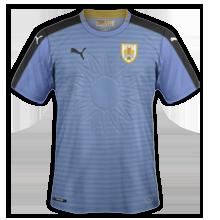 Uruguay Copa America 2016 maillot domicile