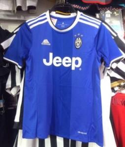Juventus 2017 maillot exterieur bleu 2016 2017 Adidas