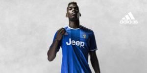Juventus 2017 maillot exterieur bleu Pogba