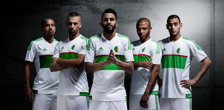 Les nouveaux maillots de foot Algérie 2016 2017