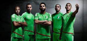 Algérie 2016 maillot exterieur football Adidas