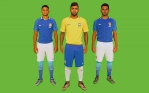 Brésil 2016 Copa America maillots de football Nike