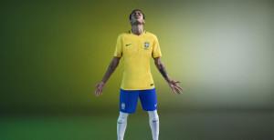 Brésil Copa America 2016 Neymar maillot foot domicile