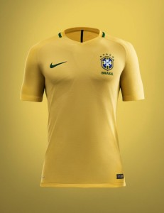 Brésil Copa America 2016 maillot domicile