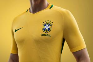 Brésil Copa America 2016 maillot foot domicile Nike