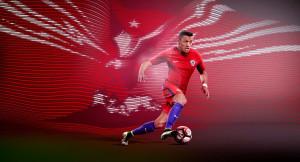 Chili Copa America 2016 centenario maillot foot domicile