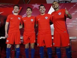 Chili Copa America 2016 maillot domicile foot