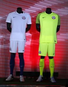 Chili Copa America 2016 maillot exterieur et gardien