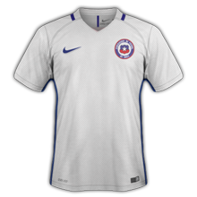 Chili Copa America 2016 maillot exterieur
