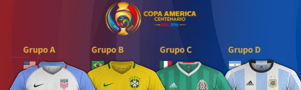 maillots foot Copa America 2016