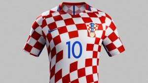Croatie Euro 2016 maillot de foot domicile