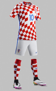 Croatie Euro 2016 maillot de football domicile