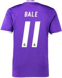 Flocage Real Madrid 2016 2017 Gareth Bale