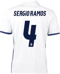 Flocage Real Madrid 2016 2017 Sergio Ramos