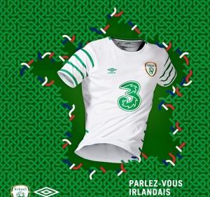 Irlande Euro 2016 maillot exterieur football Umbro