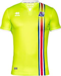 Islande Euro 2016 maillot de gardien jaune