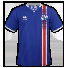 Islande Euro 2016 maillot domicile 2016