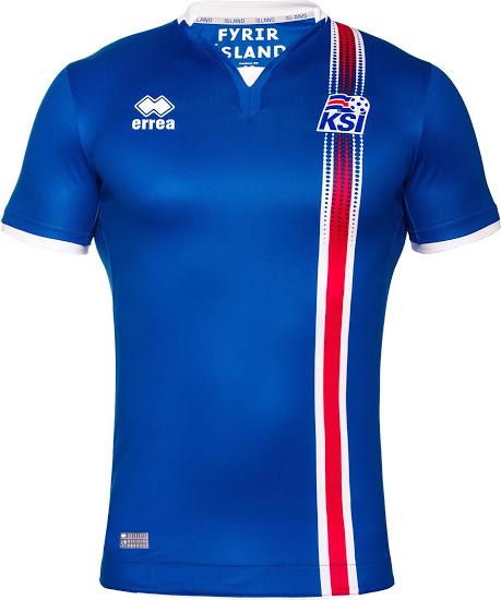 Les nouveaux maillots de foot Islande Euro 2016