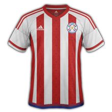 Paraguay Copa America 2016 Centenario maillot foot domicile