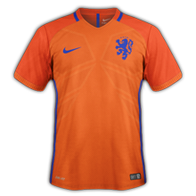 Pays-Bas 2016 maillot foot domicile