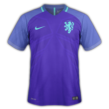 Pays-Bas 2016 maillot foot exterieur
