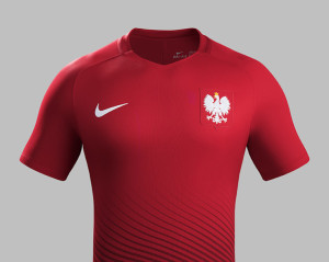 Pologne Euro 2016 maillot foot exterieur Nike