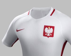 Pologne Euro 2016 maillot football domicile Nike