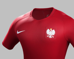 Pologne Euro 2016 maillot football exterieur Nike